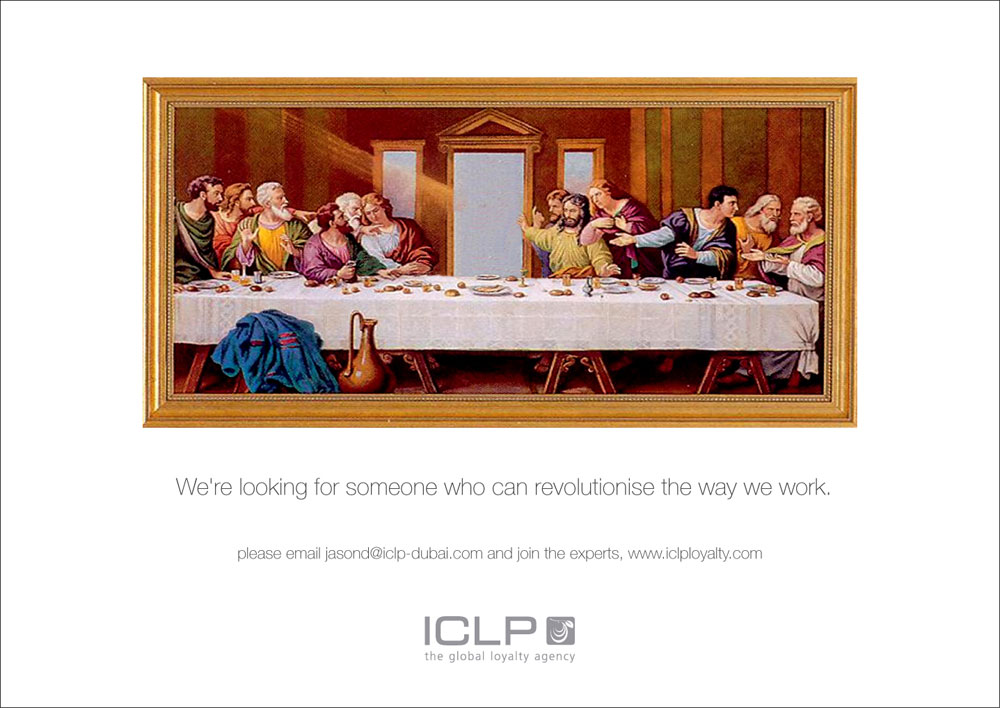 Worldwide there are many beautiful and creative recruitment ads to be found. For your inspiration, I'll post a weekly preview on the Global Recruiting Roundtable blog. The focus will be on international vacancy print ads, recruitment guerrilla marketing or employer branding campaigns. ICLP Dubai: We're looking for someone who…