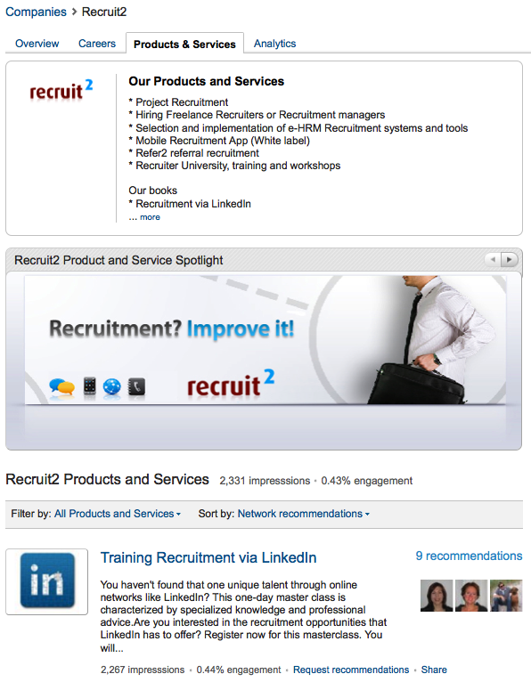 Lately I noticed a fast growing trend that companies are creating personal (user) profiles on LinkedIn and start connecting with people and joining groups. As an owner of a large Recruiter group on LinkedIn, Recruitment Consultants with over 64.000 members, I' m getting 100+ requests per day to join. More […]
