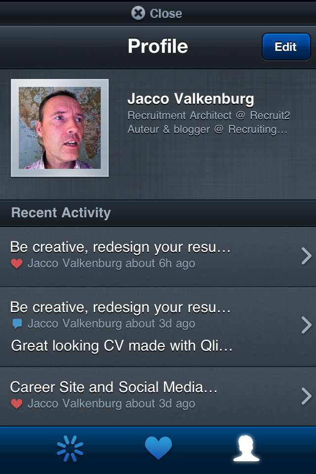 For over one year, we have mobile Apps in the iTunes Store specifically designed for Recruiters, HRM and Employer Branding specialists to follow the latest news on the iPhone (and also on Android Phone and Windows 7). In the latest version we go social! Now you can profile yourself*, like, […]